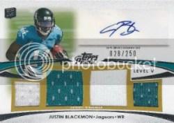 2012 Topps Prime Justin Blackmon Level V