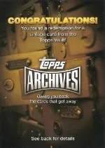 2013 Topps Archives Vault Redemption