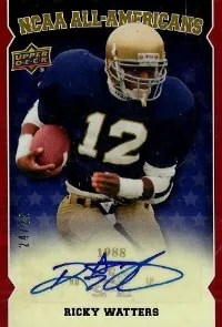 2013 UD Notre Dame Rickey Watters Auto