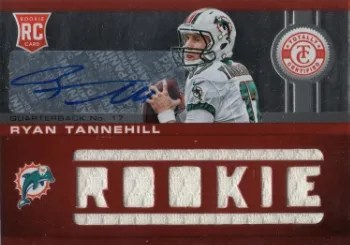 2012 Panini Totally Certified Ryan TannehilL Auto RC