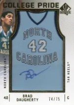 12-13 Sp Authentic Brad Daugherty College Pride