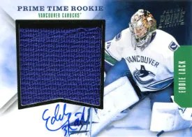 2011-12 Panini Prime Time Rookie Auto Patch #48 Eddie Lack #/50