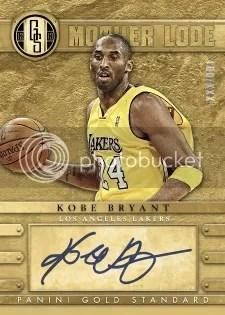 12/13 Panini Gold Standard Mother Lode Kobe Bryant Auto