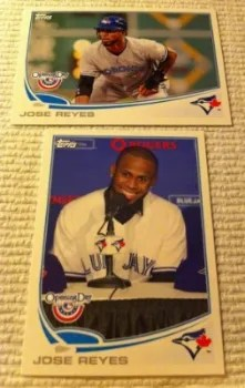 2013 Topps Opening Day Jose Reyes SP & Regular