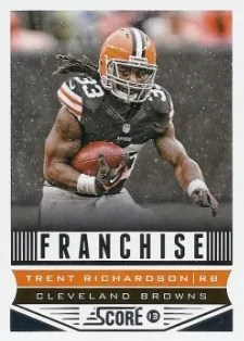 2013 Score Franchise Trent Richardson