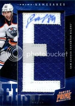 2011-12 Panini Prime Namesake Letter Autograph #78 Sam Gagner #/75