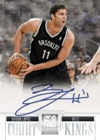12/13 Panini Court Kings Brook Lopez Auto