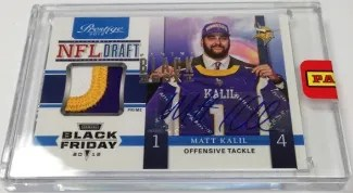 2013 Panini Black Box Matt Kalil NFL Draft Patch