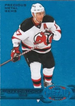 12/13 Fleer Retro Hockey Precious Metal Gems Blue #27 Ilya Kovalchuk