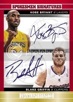 12/13 Panini Spokesman Signatures Kobe Bryant & Blake Griffin Auto