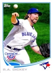 2013 Topps Opening Day #213 R.A. Dickey Base