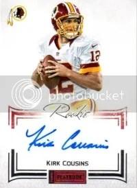 2012 Panini Playbook Kirk Cousins RC