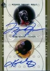 Kobe Bryant Michael Jordan Dual Auto