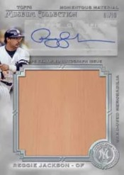 2013 Museum Collection Reggie Jackson Auto Relic
