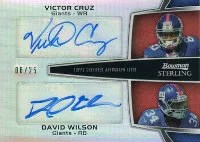 2012 Bowman Sterling Dual Autograph Giants