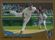 2013 Topps Series 1 Justin Verlander Gold Parallel Card #/2013
