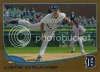 2013 Topps Series 1 Justin Verlander Gold Parallel Card #/2013