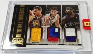 2013 Panini Black Box Triple Threats David Lee - Blake Griffin - DeMarcus Cousins