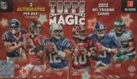 2012 Topps Magic Football Box