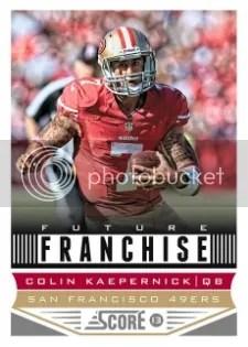 2013 Score Future Franchise Colin Kaepernick