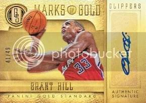 12/13 Gold Standard Grant Hill Auto