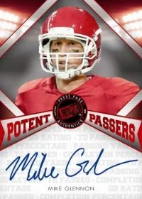 2013 Press Pass FanFare Potent Passers Mike Glennon Auto