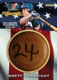 2013 Panini USA Baseball Champions Bat Knob Brett Hambright