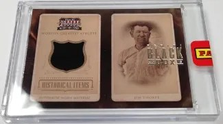 2013 Panini Black Box Americana Historical Items Jim Thorpe