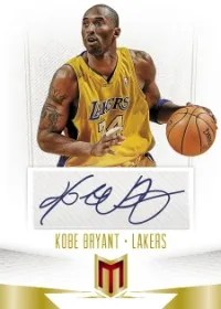 12/13 Panini Momentum Kobe Bryant Autograph Card