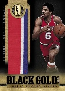 12/13 Panini Gold Standard Julius Erving Black Gold Memorabilia