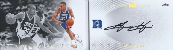 2012-13 Upper Deck All Time Greats Grant Hill Big Signatures