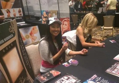 Girls Signing Cards