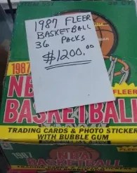 1987 Fleer Basketball Box