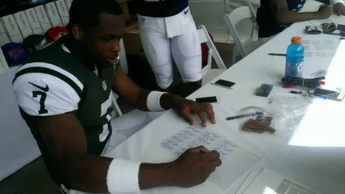 New York Jets QB Geno Smith Signing Stickers