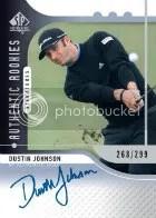 2012 Sp Authentic Dustin Johnson Autograph