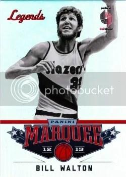 12/13 Panini Marquee Bill Walton Legends Card