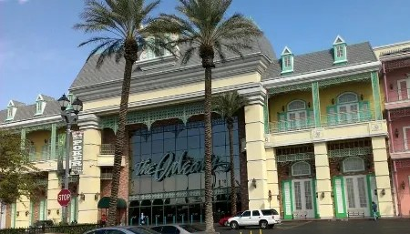 Front of the Orleans Casino in Las Vegas