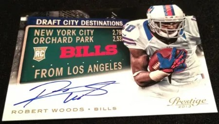 2013 Panini Prestige Draft City Destinations Robert Woods Autograph