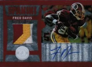 2012 Panini Totally Certified Fred Davis Auto Patch