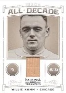 2012 National Treasures Willie Kamm