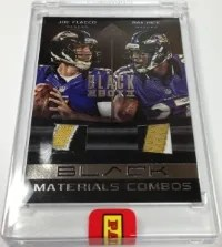 2013 Panini Black Box Joe Flacco - Ray Rice Jersey