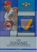 2012 Triple Threads Gio Gonzalez Relic