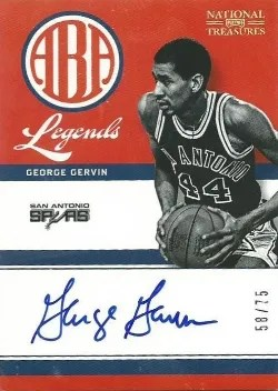 2012-13 Panini National Treasures George Gervin ABA Legend Autograph