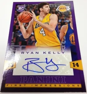 13/14 Panini First Impressions Ryan Kelly Autograph