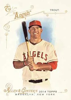 2014 Topps Allen & Ginter Mike Trout Base Card