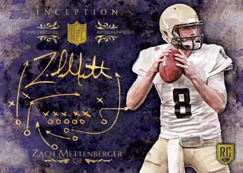2014 Topps Inception Football Gold Parallel Card