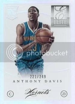 12/13 Panini Elite Series Anthony Davis RC