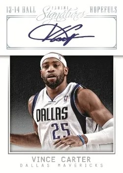 13/14 Panini Signatures Hall Hopefuls Vince Carter