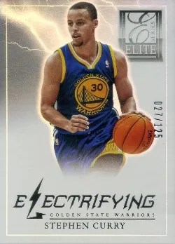 2012/13 Panini Elite Series Electricfying Stephen Curry Insert