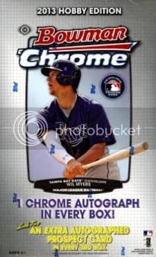 2013 Bowman Chrome Baseball Box